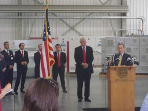The U.S. Secretary of Energy visits the Ingeteam facilities in Milwaukee