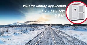 Ingeteam will supply VSD variable speed drive for the mineral processing sector in Russian Federation
