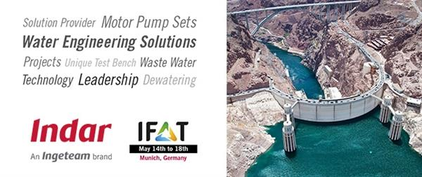 Indar to display its submersible motor pump set solutions at IFAT Munich