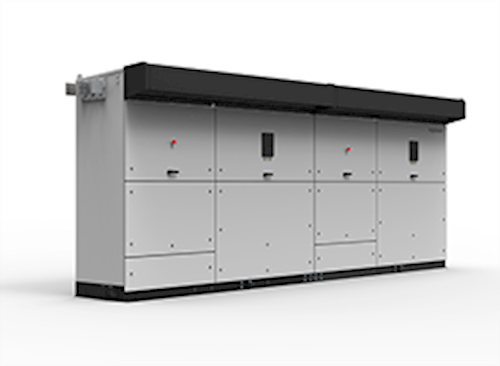 UL1741-compliant central inverters with two power blocks and 1,000 Vdc technology.